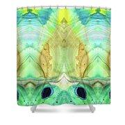 Abstract Art - Calm - Sharon Cummings Shower Curtain
