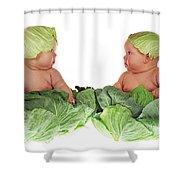 Cabbage Kids Shower Curtain
