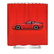India Red 1986 P 944 951 Turbo Shower Curtain