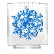 Snowflake Vector - Gardener's Dream White Version Shower Curtain