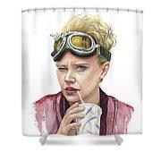 Jillian Holtzmann Ghostbusters Portrait Shower Curtain