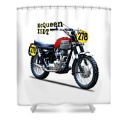 The Steve Mcqueen Isdt Motorcycle 1964 Shower Curtain