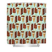 Ice Cream Novelties Pattern Shower Curtain