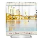 Austin Texas - Lady Bird Lake - Mid November - Two - Art Detail Poster Shower Curtain