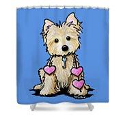 Heartstrings Cairn Terrier Shower Curtain