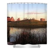 Birds And Fun At Butler Park Austin - Silhouettes 1 Shower Curtain