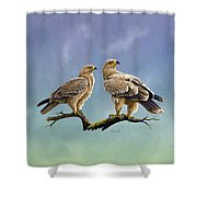 Tawny Eagles Shower Curtain