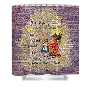Alice With The Duchess Vintage Dictionary Art Shower Curtain