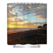 Playa Hermosa Puntarenas Costa Rica - Sunset A One Shower Curtain