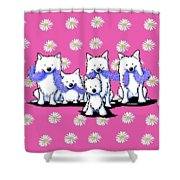Sams And Westie Shower Curtain