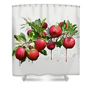 Melting Apples Shower Curtain