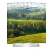 Rich Landscape Shower Curtain
