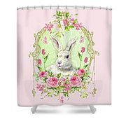 Spring Bunny Shower Curtain by Wendy Paula Patterson