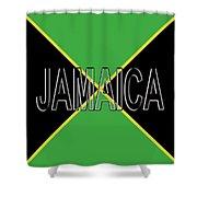 Flag Of Jamaica Word Shower Curtain