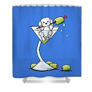 Maltese Martini Shower Curtain