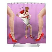 Ice Cream Woman 2 Shower Curtain