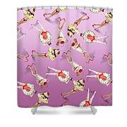 Ice Cream Woman 4 Shower Curtain