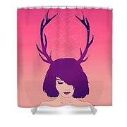 Jackalope Lady Shower Curtain
