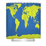 Abstract World Map 0317 Shower Curtain