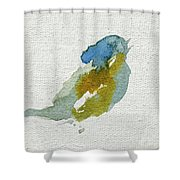 Abstract Bird Singing Shower Curtain