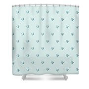 Pattern With Diamonds Shower Curtain