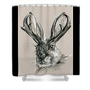 The Mythical Jackalope Shower Curtain
