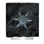 Real Snowflake Photo - The Shard Shower Curtain by Alexey Kljatov