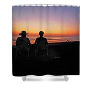 la Casita Playa Hermosa Puntarenas Costa Rica - Sunset Happy Couple Shower Curtain