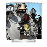 Up 844 Bell And Headlights Shower Curtain