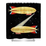 Z Is For Zeppelin Shower Curtain