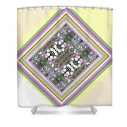 Hill Of Flowers Double Shower Curtain