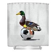 Fowl Wordless Shower Curtain