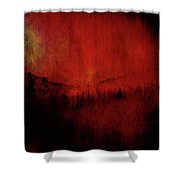 Forest Red Shower Curtain