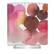 Pink Brown Coral Abstract Watercolor Shower Curtain by Beverly Brown