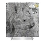 The Beautiful Rhino Shower Curtain