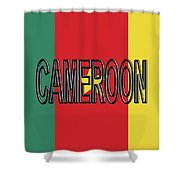 Flag Of Cameroon Word. Shower Curtain