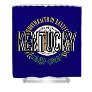 Flag Of Kentucky  Word Shower Curtain