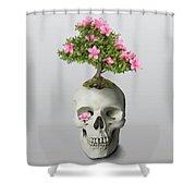 Bonsai Skull Shower Curtain by Ivana Westin