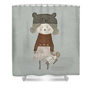 Lucy Bear Shower Curtain