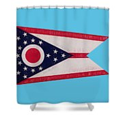 Flag Of Ohio Grunge Shower Curtain