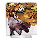 150 Caribou Speed Paint Shower Curtain