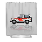 Mitsubishi Pajero Montero Shogun 3 Door Turbo Diesel Shower Curtain