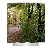 Autumn Bicycling Vertical One Shower Curtain
