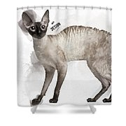 Cute Cornish Rex Youngster Shower Curtain