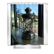 Image Included In Queen The Novel - Lantern In Window 19of74 Enhanced Poster Shower Curtain