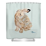 Cuddly Arctic Hare II Shower Curtain