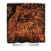 Eagle Metallic Copper Shower Curtain