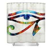 Eye Of Horus - By Sharon Cummings Shower Curtain