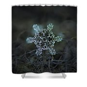 Real Snowflake - Slight Asymmetry New Shower Curtain
