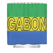 Flag Of Gabon Word. Shower Curtain